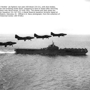 F9F-2 Panthers & USS Boxer