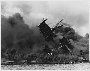 USS Arizona at Pearl Harbor
