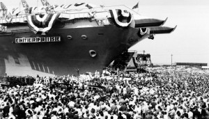USS ENTERPRISE CHRISTENING