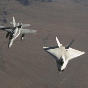 X-32A & Boeing F/A-18D Hornet
