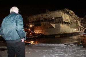USS Forrestal Departure from Philadelphia